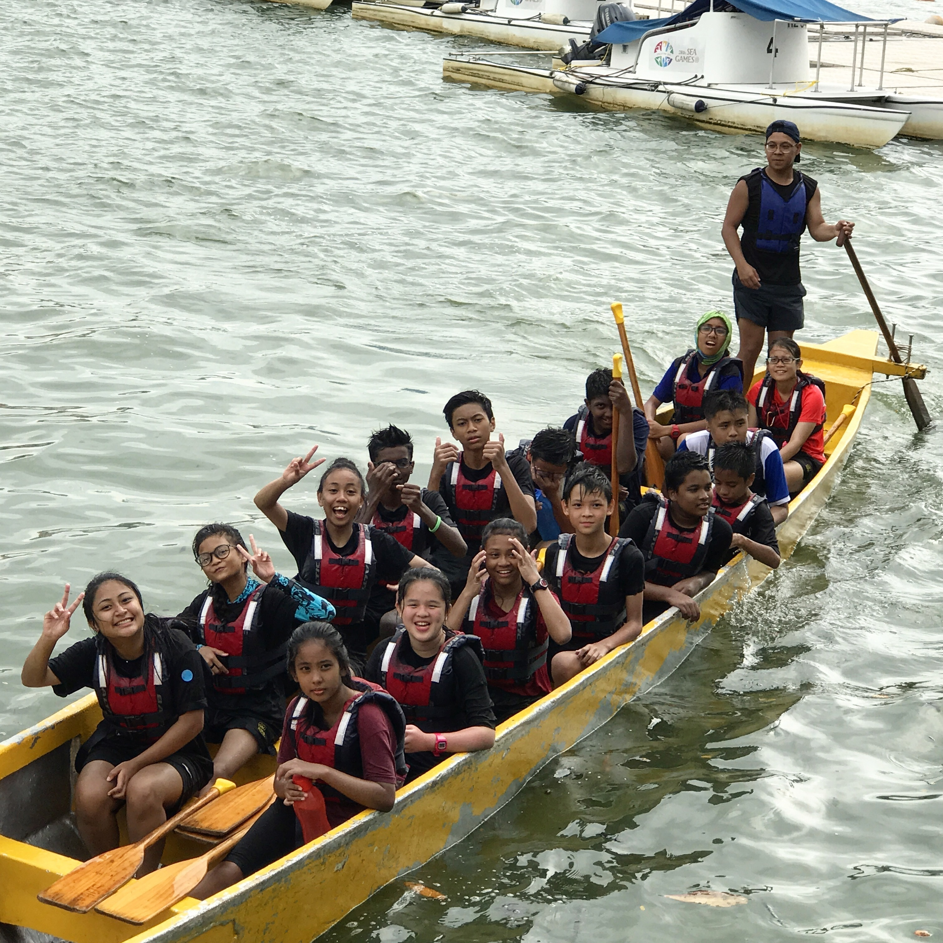 It was the first time aboard a Dragonboat for many Sec 2s.jpg