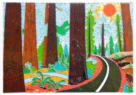 Sequoias is a piece of stained glass art done by 3 Sec 1 students in 2014